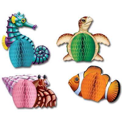 Click for larger picture of SEA CREATURES PLAYMATES (48/CS) PARTY SUPPLIES