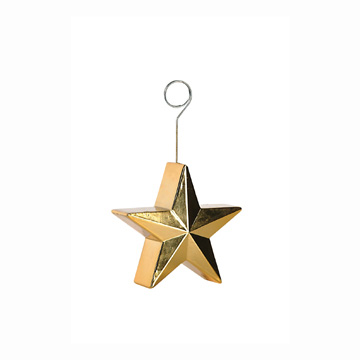 GOLD STAR PHOTO/BALLOON HOLDER 1/PKG PARTY SUPPLIES