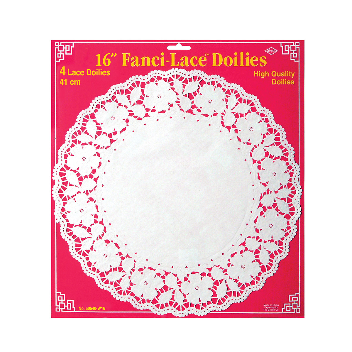 Click for larger picture of FANCI-LACE WHITE BOND DOILIES(48/CS) PARTY SUPPLIES