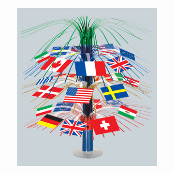 International party supplies international flag cascade for International party decor