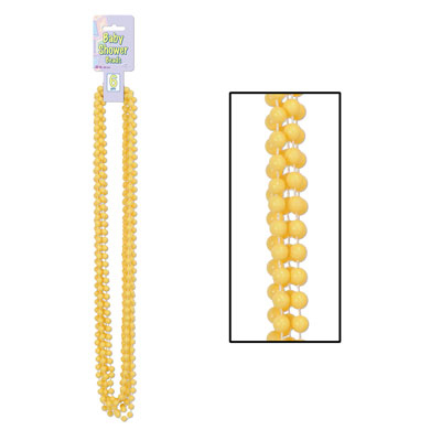 Click for larger picture of BABY SHOWER BEADS YELLOW PARTY SUPPLIES