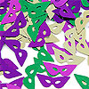 FANCI-FETTI MARDI GRAS MASKS(12/CS) PARTY SUPPLIES