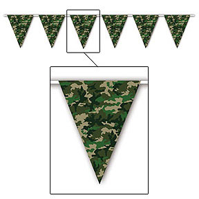 CAMO FLAG PENNANT BANNER PARTY SUPPLIES