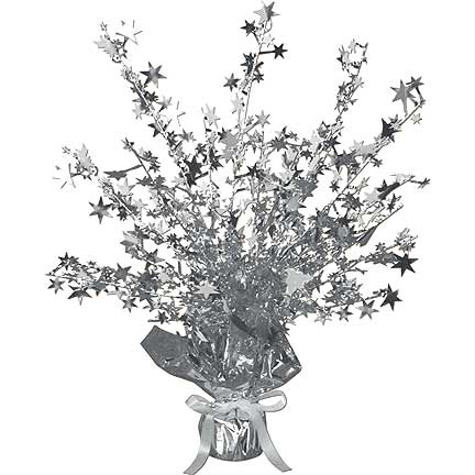 SILVER STAR GLEAM'N BURST CENTERPIECE PARTY SUPPLIES