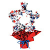 RED/WH/BLUE STAR GLEAM 'N SHAPE CENTRPCE PARTY SUPPLIES