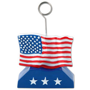 Click for larger picture of FLAG PHOTO/BALLOON HOLDER PARTY SUPPLIES