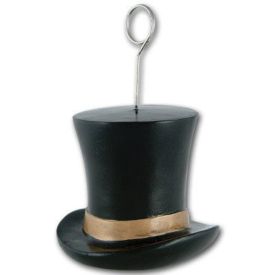Click for larger picture of GOLD TOP HAT PHOTO/BALLOON HOLDER PARTY SUPPLIES