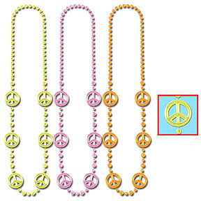 Click for larger picture of FUNKY PEACE BEADS PARTY SUPPLIES