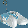 BABY SHOES PHOTO/BALLOON HOLDER LT. BLUE PARTY SUPPLIES