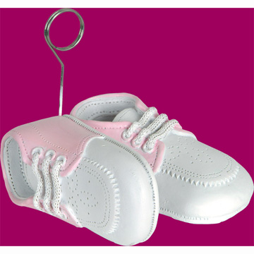 Click for larger picture of BABY SHOES PHOTO/BALLOON HOLDER (6/CS) PARTY SUPPLIES