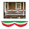 RED, WHITE & GREEN FABRIC BUNTING PARTY SUPPLIES