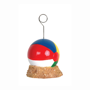 Click for larger picture of BEACH BALL PHOTO/BALLOON HOLDER PARTY SUPPLIES