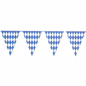 click for larger picture of oktoberfest pennant banner party supplies - Oktoberfest Decorations