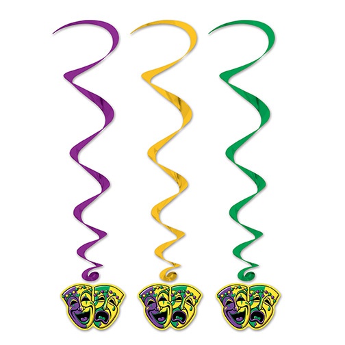 Click for larger picture of MARDI GRAS WHIRLS (30/CS) PARTY SUPPLIES