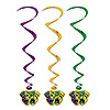 MARDI GRAS WHIRLS (30/CS) PARTY SUPPLIES