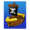 INFLATABLE PIRATE SHIP COOLER (1/CS) PARTY SUPPLIES