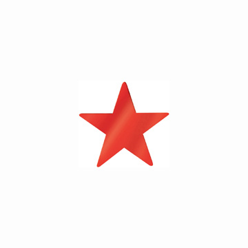 Click for larger picture of RED FOIL STAR 20IN. (12/CS) PARTY SUPPLIES