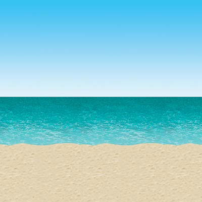Click for larger picture of BLUE SKY & OCEAN BACKDROP(6/CS) PARTY SUPPLIES