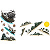 PIRATE SHIP & ISLAND PROPS(12/CS) PARTY SUPPLIES