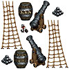 PIRATE SHIP PROPS (108/CS) PARTY SUPPLIES