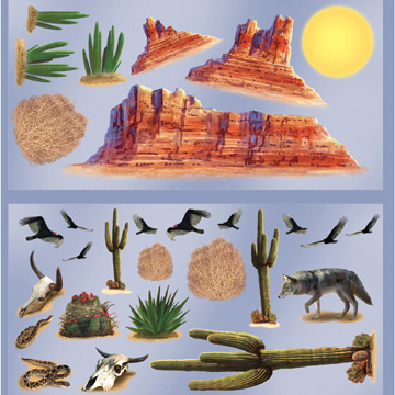 Click for larger picture of WILD WEST DESERT PROPS (348/CS) PARTY SUPPLIES