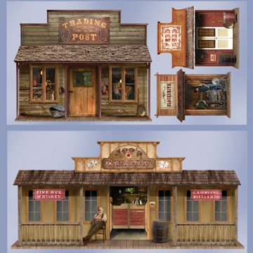 Click for larger picture of WILD WEST TOWN PROPS PARTY SUPPLIES