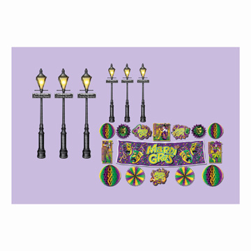 Click for larger picture of MARDI GRAS D�COR & STREET LIGHT PROPS PARTY SUPPLIES