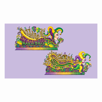 Click for larger picture of MARDI GRAS FLOAT PROPS PARTY SUPPLIES