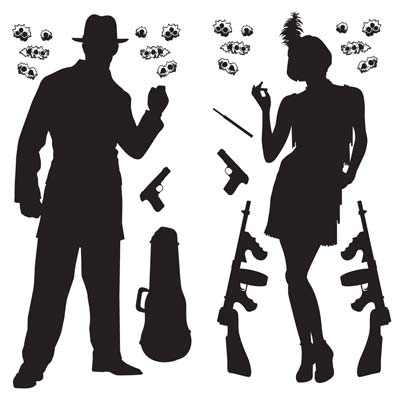 Click for larger picture of GANGSTER PROPS INSTA-THEME PARTY SUPPLIES