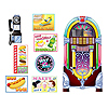 SODA SHOP SIGNS & JUKEBOX PROPS PARTY SUPPLIES