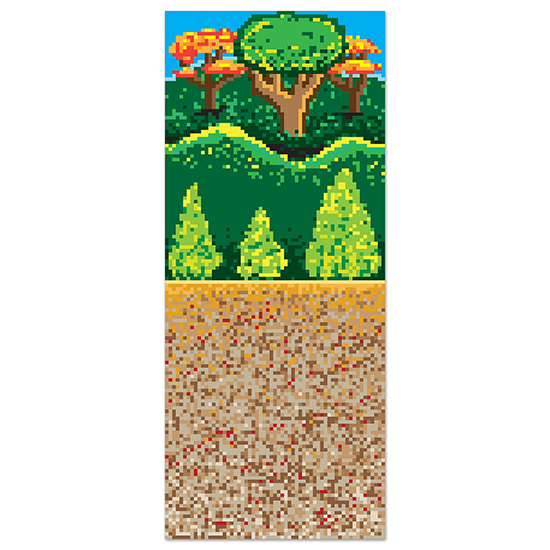 8-BIT FOREST BACKDROP PARTY SUPPLIES