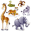 JUNGLE ANIMAL PROPS PARTY SUPPLIES