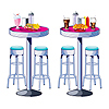SODA SHOP TABLES & STOOLS PROPS PARTY SUPPLIES