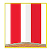 RED & WHITE STRIPES BACKDROP (6/CS) PARTY SUPPLIES