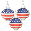 LIGHT-UP PATRIOTIC PAPER LANTERNS (18/CS PARTY SUPPLIES