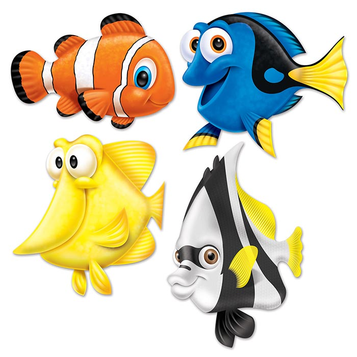 Click for larger picture of UNDER THE SEA FISH CUTOUTS PARTY SUPPLIES
