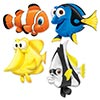UNDER THE SEA FISH CUTOUTS (48/CS) PARTY SUPPLIES