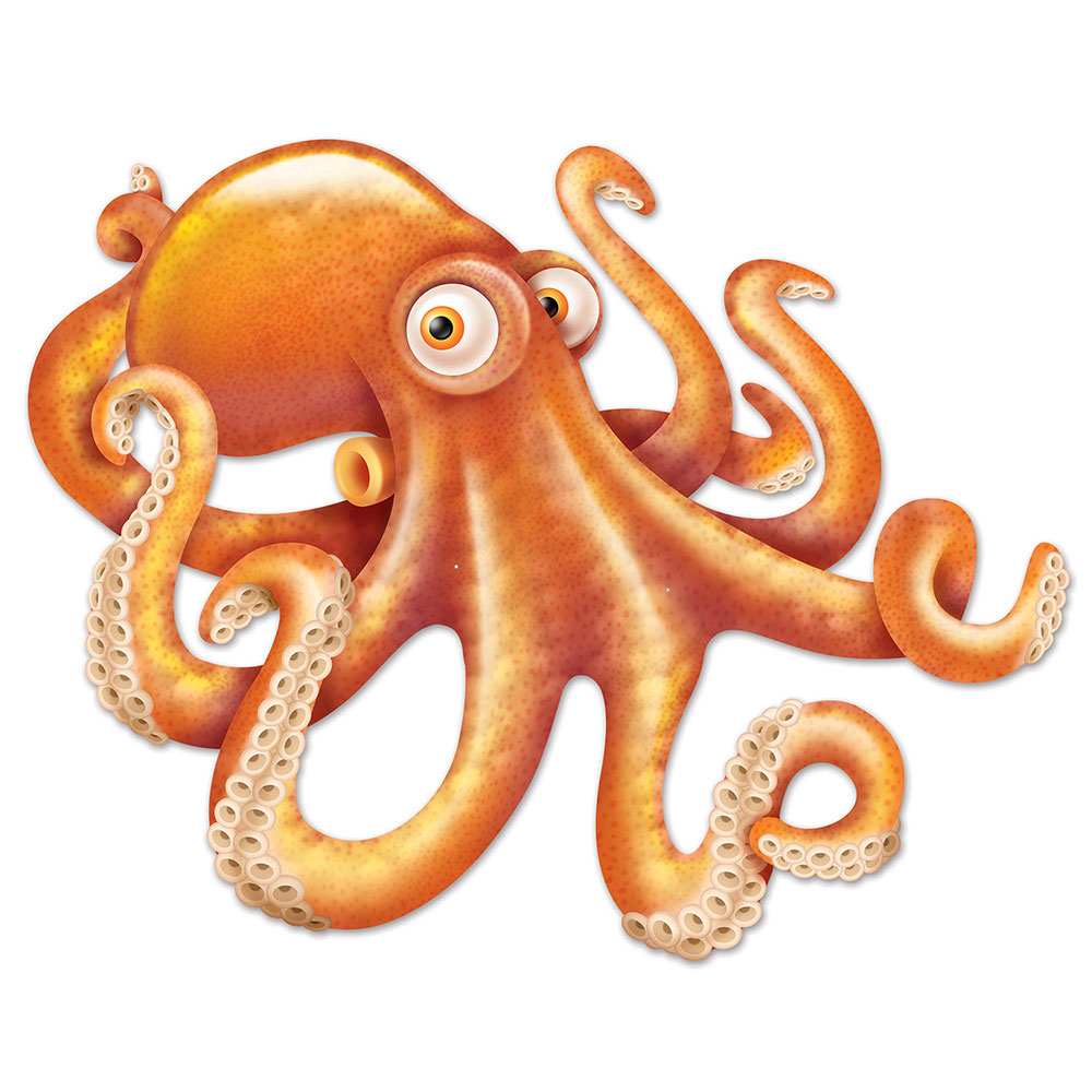 Click for larger picture of JOINTED OCTOPUS (12/CS) PARTY SUPPLIES