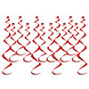 RED TWIRLY WHIRLY (12 CT) PARTY SUPPLIES