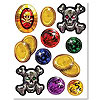 PIRATE TREASURE STICKERS (48/CS) PARTY SUPPLIES