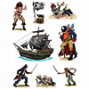 PIRATE STICKERS (48/CS) PARTY SUPPLIES