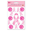 DISCONTINUED PINK RIBBON STICKERS PARTY SUPPLIES