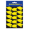GRAD CAP STICKERS-YELLOW (12/CS) PARTY SUPPLIES