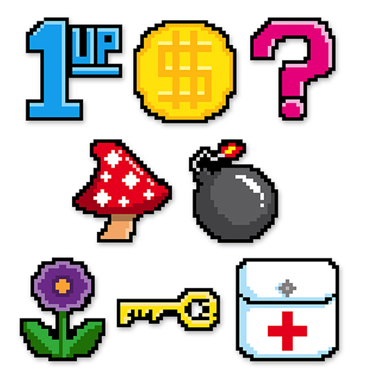 8-BIT MINI CUTOUTS PARTY SUPPLIES