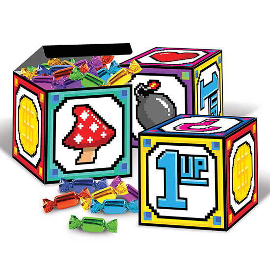 8-BIT FAVOR BOXES PARTY SUPPLIES