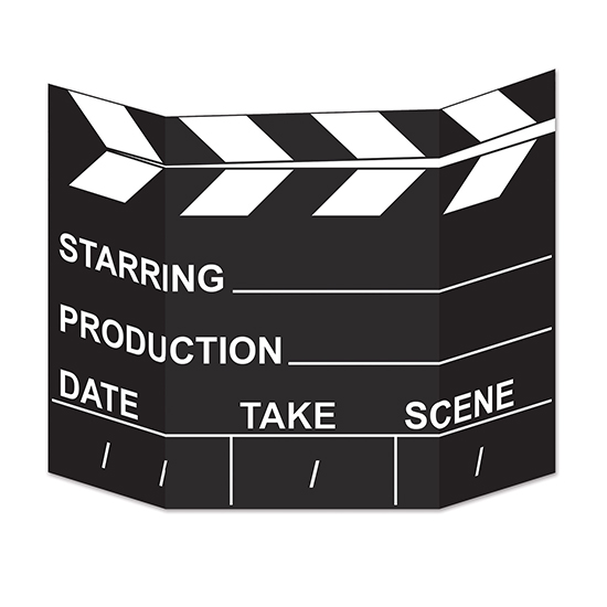 MOVIE SET CLAPBOARD PHOTO PROP PARTY SUPPLIES