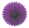 MINI TISSUE FANS - PURPLE (72/CS) PARTY SUPPLIES