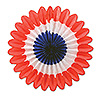 MINI TISSUE FANS-RED-WHITE-BLUE (72/CS) PARTY SUPPLIES