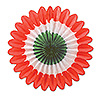MINI TISSUE FANS-RED-WHITE-GREEN (72/CS) PARTY SUPPLIES