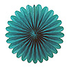 MINI TISSUE FANS - TURQUOISE (72/CS) PARTY SUPPLIES